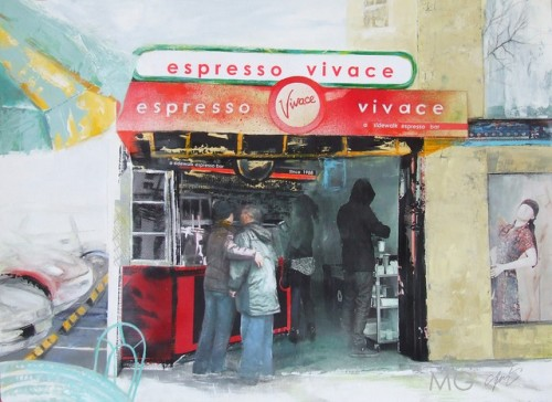 Espresso Vivace on Broadway captured by Marsha Glaziere.