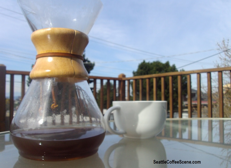 how to clean coffee stains from chemex